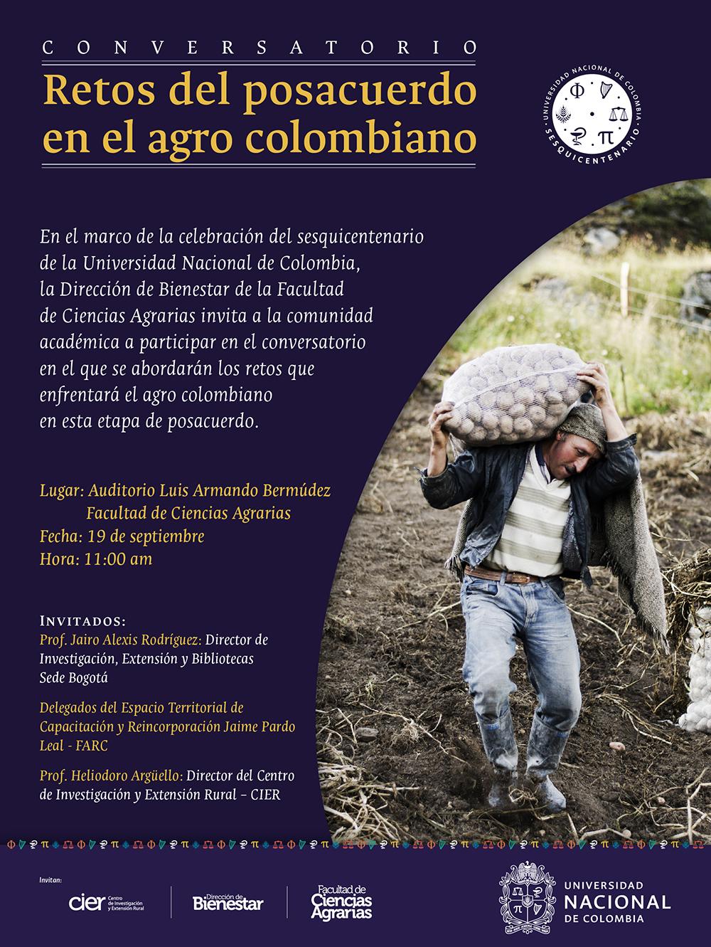 Conversatorio: Retos del posacuerdo en el agro colombiano
